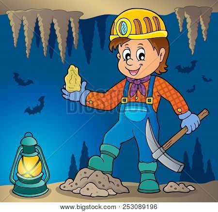 Miner Theme Image 3 - Eps10 Vector Picture Illustration.