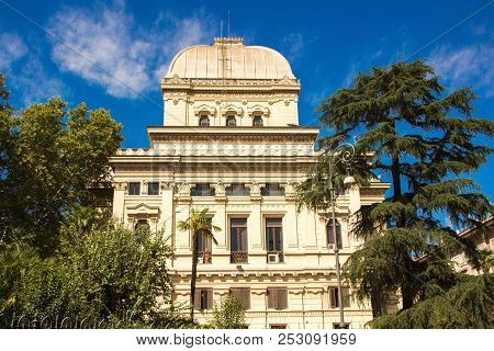 Rome, Italy - September 12, 2017: The Great Synagogue Of Rome (italian: Tempio Maggiore Di Roma) Is