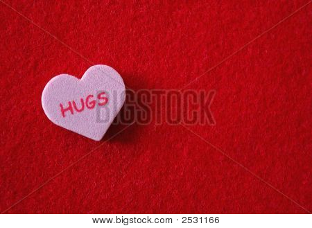 Conversation Heart - Hugs
