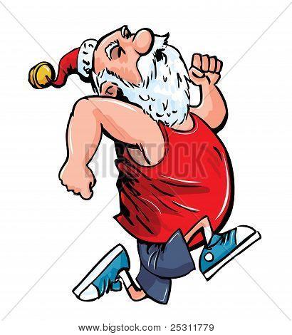 Exercising Santa