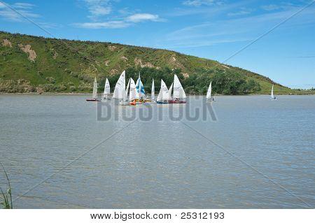 Sailing, small yachts.
