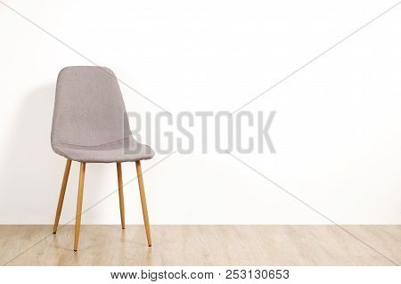 Empty Chairs. Vacant Job Position Concept. Minimlistic Interior Lofty Room With Elegant Furniture Pi