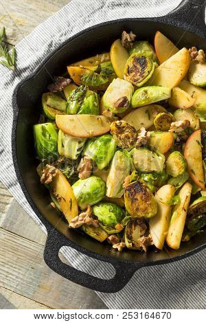 Homemade Brussel Sprout And Apple Salad