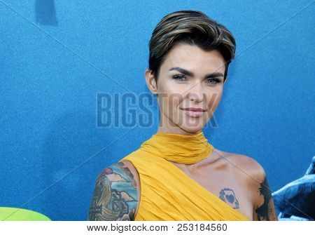Ruby Rose at the Los Angeles premiere of 'The Meg' held at the TCL Chinese Theatre IMAX in Hollywood, USA on August 6, 2018.