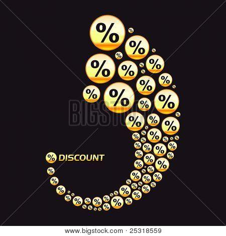 Discount backdrop. Vector illustration.