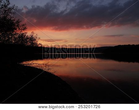 Beautiful Sunset At The Lake, Edersse, Kellerwald