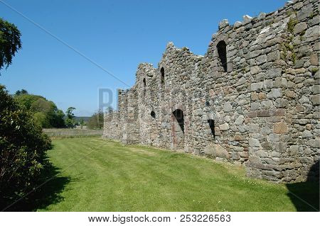 Aberdeenshire, Scotland - May 10th 2018: Remains Of Deer Abbey, Near Mintlaw