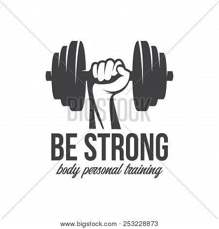 Bodybuilding, Powerlifting, Kettlebell, Workout, Fitness Logo Template. Gym Club Logotype. Bodybuild