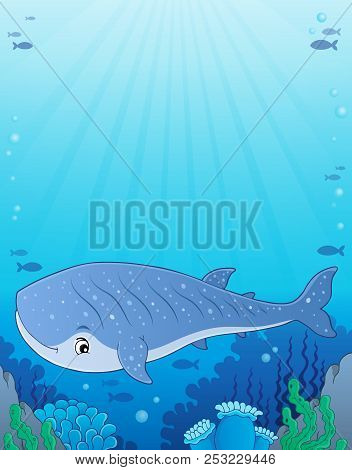 Whale Shark Theme Image 1 - Eps10 Vector Picture Illustration.