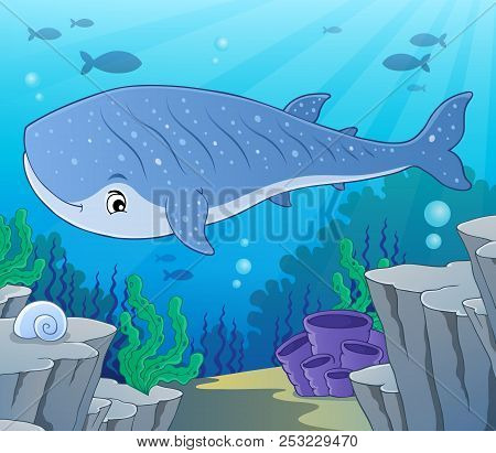 Whale Shark Theme Image 2 - Eps10 Vector Picture Illustration.
