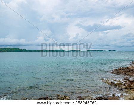 Rocky Coast Beach Seascape In Idyllic Ocean,khao Laem Ya Nation Park Thailand,holiday In Summer Conc