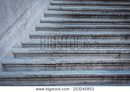 Close-up Of Spanish Steps In Rome, Italy