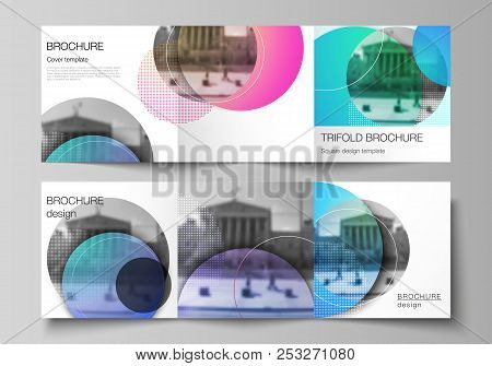 The Minimal Vector Editable Layout Of Two Square Format Covers Design Templates For Trifold Square B