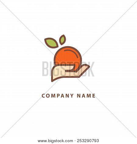 Abstract Food Logo Icon Vector Design. Recipe, Cooking, Course, Cafe, Restaurant, Vegan Food Vector