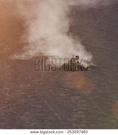 sandboarding in cerro negro volcano Nicaragua poster