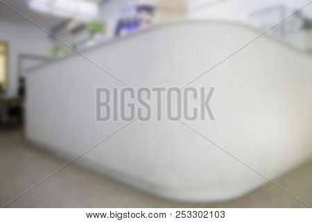 Moder Style Reception Counter Bar Blur Background, Stock Photo