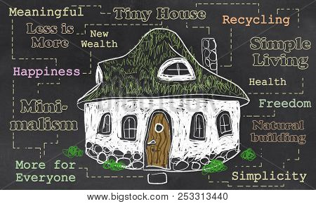 Tiny House Illustration About Freedom And Simple Living