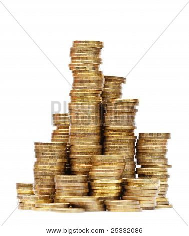 Columns Of Golden Coins
