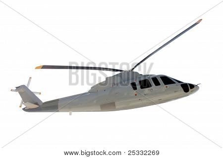 Helicopter Isolated On White