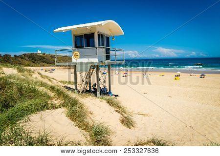 Lifeguard House On The Beach In Lighthouse Beach In Australia