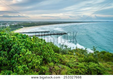 Evans Head In New South Wales, Australia, Lookout Panoramic View