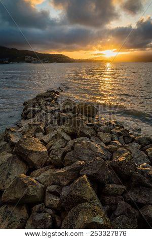 Sunset At Airlie Beach In Queensland, Australia