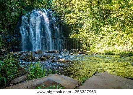 Ellinjaa Falls In The Summer In Queensland, Australia