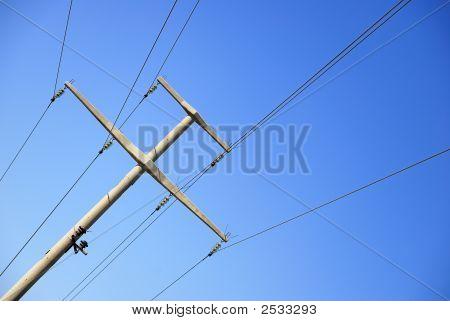 A Stone Electric Pole
