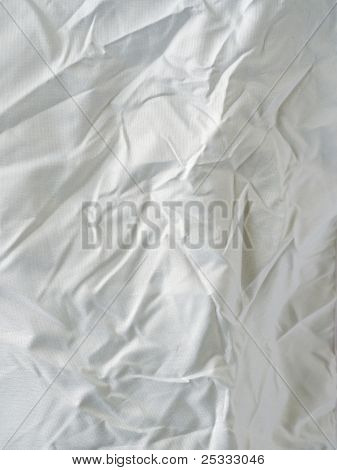 Surface Of Wrinkled White Cloth