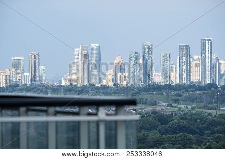 View Of Mississauga City Skyline From A Condo
