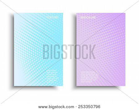 Minimal Covers Design. Vector Colorful Halftone Gradients. Futuristic Geometric Background. Vector G