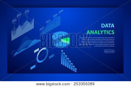 Infographic Vector Elements. Illustration Data Financial Graphs Or Diagrams, Information Data Statis