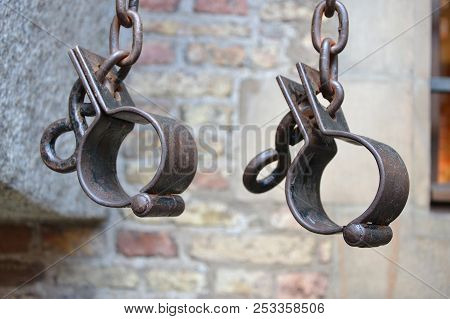 I have a dream. The end of slavery. Symbol of slavery-shackles poster
