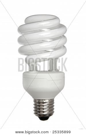 Energy Efficient Light Bulb Isolated On White