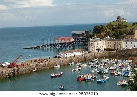 Tenby harbour Pembroke Wales