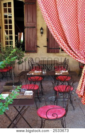 Rural Outdoor Cafe. Provence, France