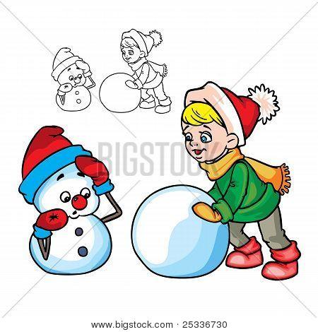 The boymakesa snowman