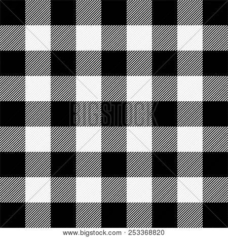 Lumberjack Plaid. Scottish Pattern In White And Black Cage. Scottish Cage. Buffalo Check. Traditiona