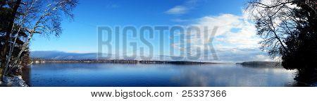 Beautiful  Minnesota Lake Panoramic