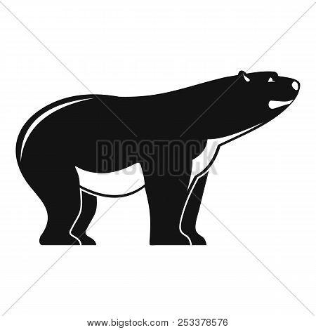 Watching Polar Bear Icon. Simple Illustration Of Watching Polar Bear Icon For Web Design Isolated On