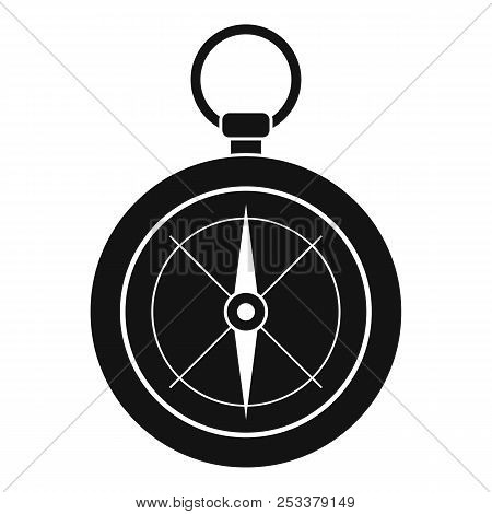 Compass Icon. Simple Illustration Of Compass Icon For Web Design Isolated On White Background