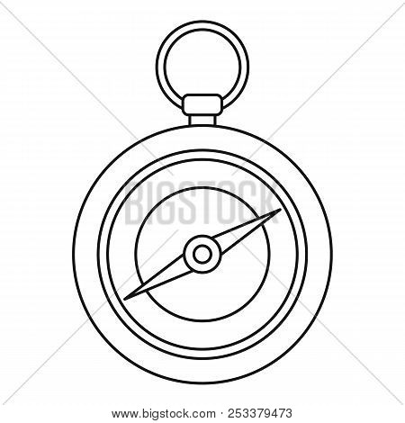 Compass Icon. Outline Illustration Of Compass Icon For Web Design Isolated On White Background