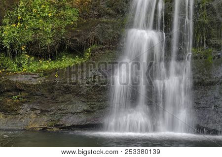 Sgwd Yr Pannwr Waterfall, Brecon Beacons National Park, Wales