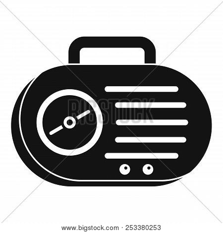 Portable Radio Icon. Simple Illustration Of Portable Radio Icon For Web Design Isolated On White Bac