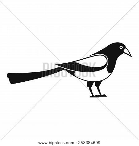 Searching Magpie Icon. Simple Illustration Of Searching Magpie Icon For Web Design Isolated On White