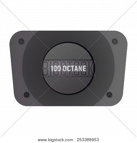 Fuel filler flap. Vector illustration. 100 octane gasolene poster