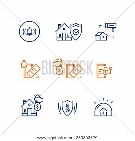 House Burglary, Break In Home, Security Service, Video Camera Surveillance, Alarm Bell Guard System,