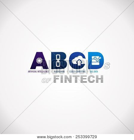 Abcds Of Fintech Financial Technology Business Service Design Text Infographic