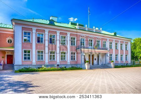 Tallinn, Estonia- July 22, 2018: Office Of The President Of The Republic Of Estonia In Tallinn.const