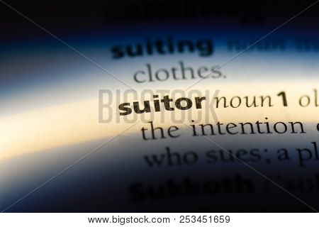 Suitor Word In A Dictionary. Suitor Concept.